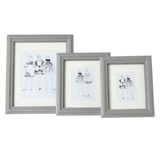 grey Paul Costelloe Living Mounted Frame