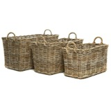 natural Paul Costelloe Living Laura Rectangular Basket