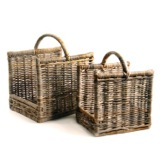 natural Paul Costelloe Living Laura Log Baskets