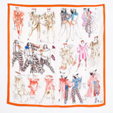orange Peter O'Brien 80s Silk Scarf