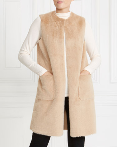 stone Gallery Faux Teddy Fur Gilet