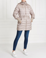 taupe Gallery Hooded Padded Coat