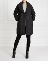 black Gallery Wrap Collar Coat
