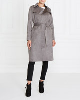greyGallery Suedette Trench