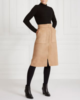 camel Gallery Suedette Skirt