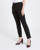 black Gallery Zip Hem Ponte Trousers