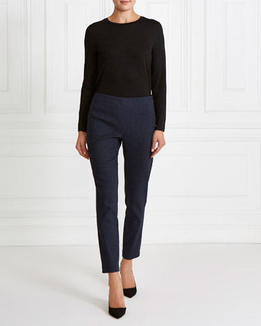 navyGallery Jacquard Trousers