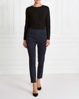 navy Gallery Jacquard Trousers