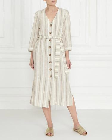 stoneGallery Stripe Linen Dress