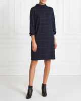 navy Gallery Check Dress