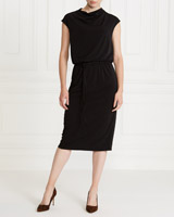 black Gallery Cowl Dress