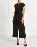 black Gallery Pleat Jumpsuit