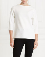 ivory Gallery Tube Jacquard Top