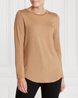 camel Gallery Round Neck Top