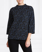 multi Gallery Leopard Turtle Neck Top