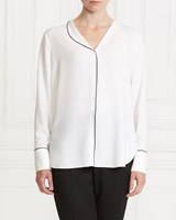 ivory Gallery Lapel Blouse