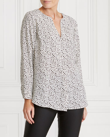 black-ivory Gallery Printed Top