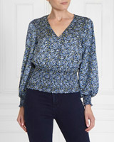 blueGallery Shirred Waist Blouse