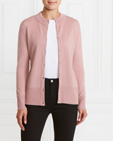 blush Gallery Merino-Blend Cardigan