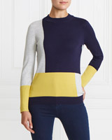 lime Gallery Colour Block Jumper