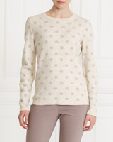 blush Gallery Lurex Spot Jumper