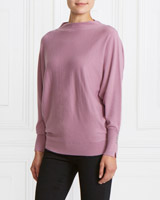 purple Gallery Button Cuff Jumper