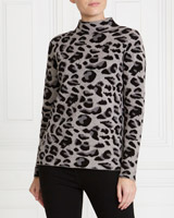 multi Gallery Leopard Jumper