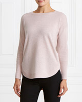 blush Gallery Round Hem Jumper
