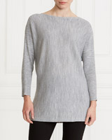 grey Gallery Rib Batwing Jumper