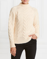 ivory Gallery Cable Jumper
