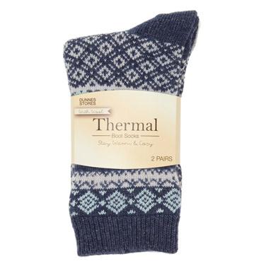 03d473b8222 denim Thermal Boot Socks - Pack Of 2