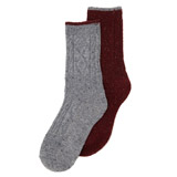 burgundy Thermal Boot Socks - Pack Of 2