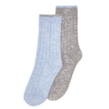 blue Thermal Boot Socks - Pack Of 2