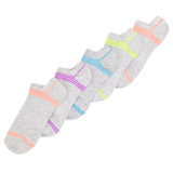 grey-marl Coloured Trainer Socks - Pack Of 5