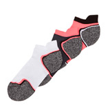 white-black Low Profile Terry Heel-And-Toe Sock - Pack Of 3