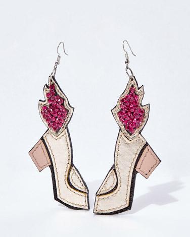 Joanne Hynes Flaming Shoe Earrings