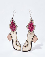 multi Joanne Hynes Flaming Shoe Earrings