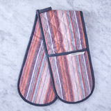 multi Helen James Considered Striped Double Oven Glove