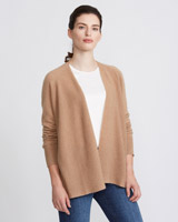 camel Paul Costelloe Living Cashmere Cardigan