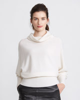 cream Paul Costelloe Living Studio Pure Cashmere Cowl Neck
