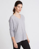 light-grey Paul Costelloe Living Studio Cashmere V-Neck