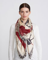 multi Paul Costelloe Living Studio Lady Dress Silk Scarf