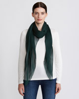 green Paul Costelloe Living Studio Silk Chiffon Scarf