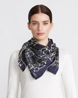 multi Paul Costelloe Living Reptile Silk Scarf
