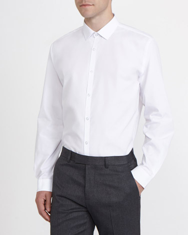 white Slim Fit Ultimate Non-Iron Long-Sleeved Shirt - Pack Of 2
