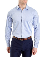 light-blue Slim-Fit Cotton Rich Shirt