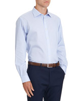 light-blue Regular Fit Non Iron Shirt