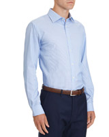 blue-check Slim Fit Non Iron Shirt