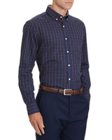 navy Regular Fit Country Check Shirt