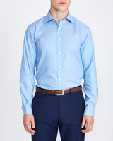 blue Slim Fit Non Iron Shirt
